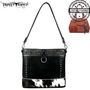 BK Trinity Ranch Hair-On Leather Collection Crossb